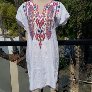 Nwt Johnny Was embroidered tunic dress  Small